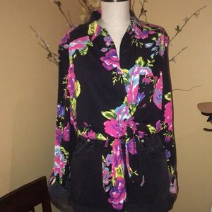 Byhenry Holland floral top